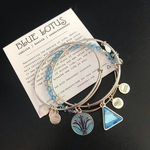 Alex and Ani Blue Lotus
